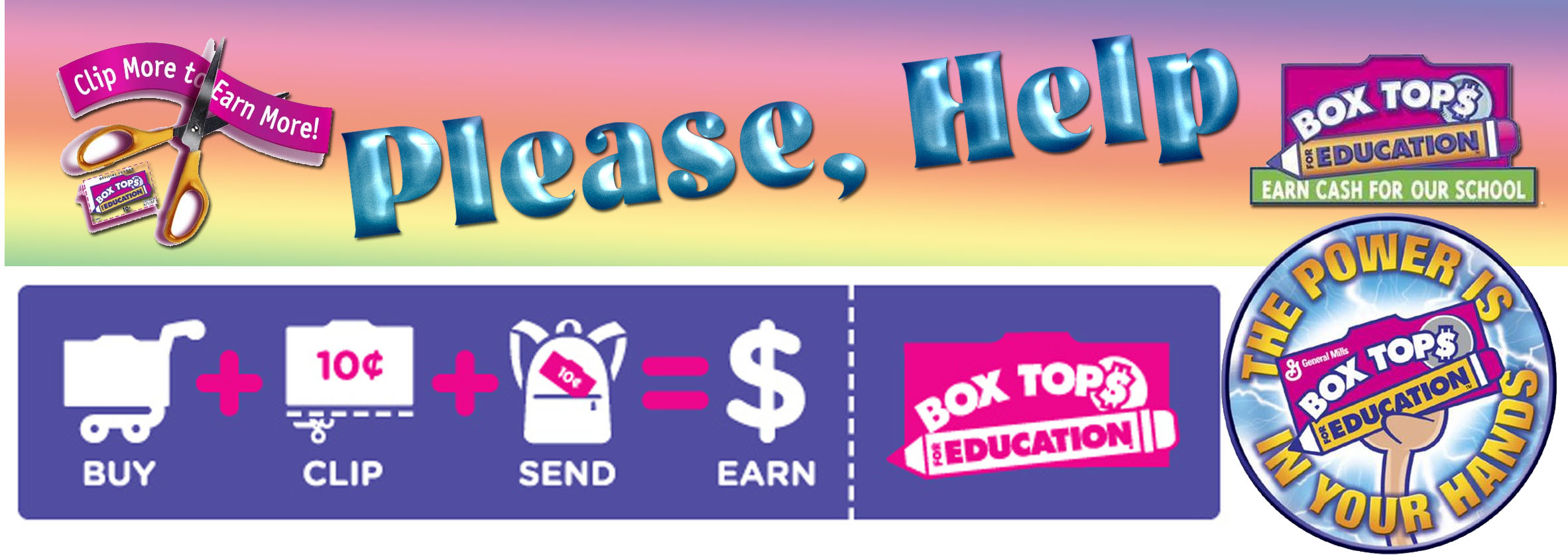 We are now collecting Box Tops for Education!