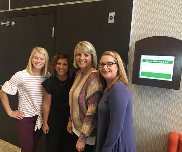 Great job presenting at this year's WVEC ELL State Conference! Mrs. Montgomery, Mrs. Meyer, Mrs. Longmeier and Mrs. Franklin